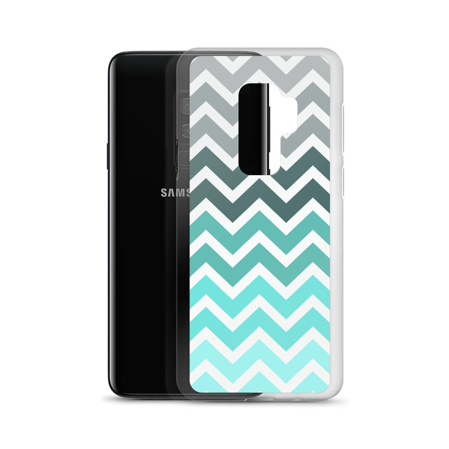 Turquoise Mint Chevron Fade Samsung Case