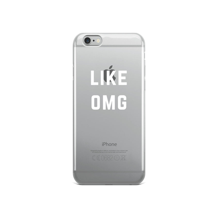Like OMG transparent clear iPhone Case