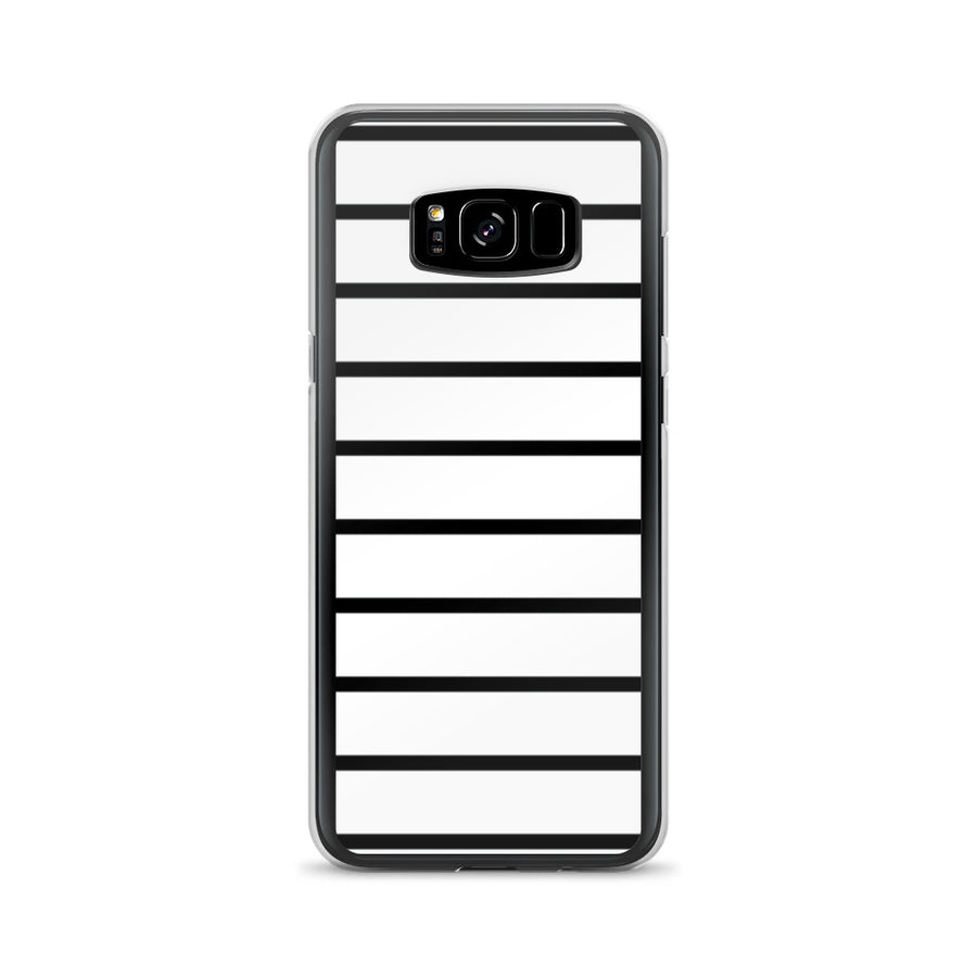Simple minimal Black and White Stripes Samsung Case