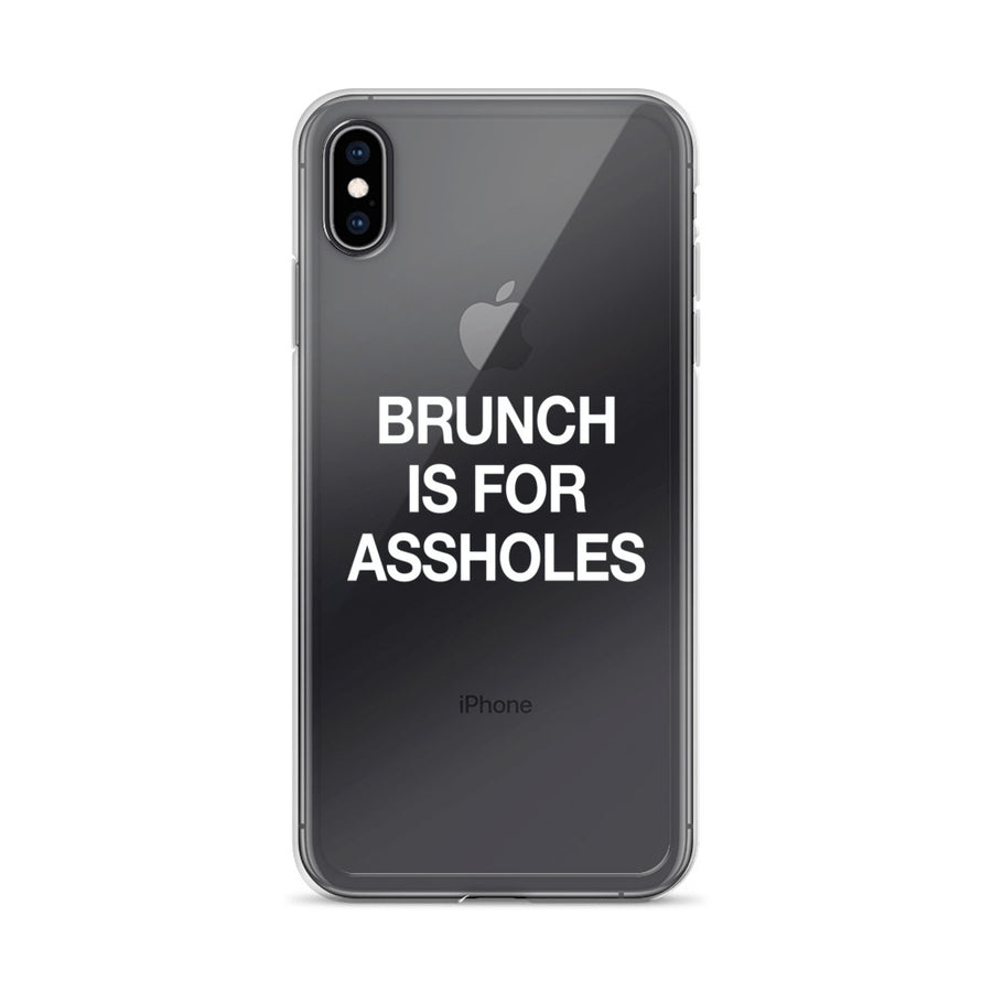 Brunch is for Assholes Transparent iPhone Case