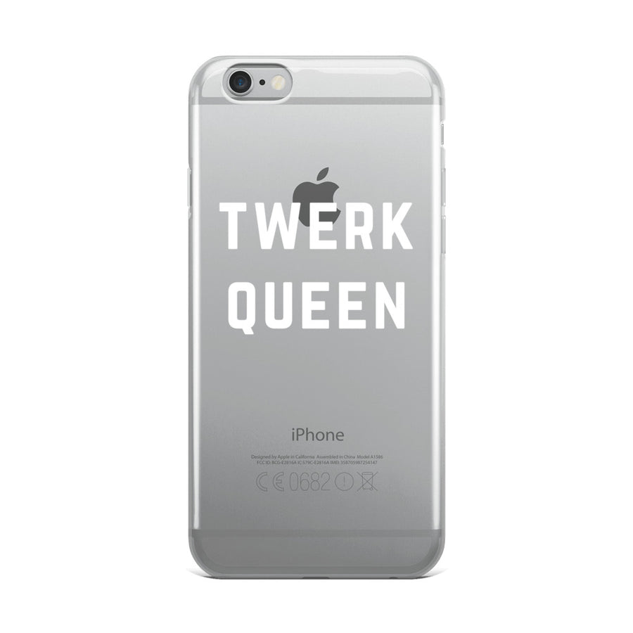Twerk Queen Clear Transparent iPhone Case
