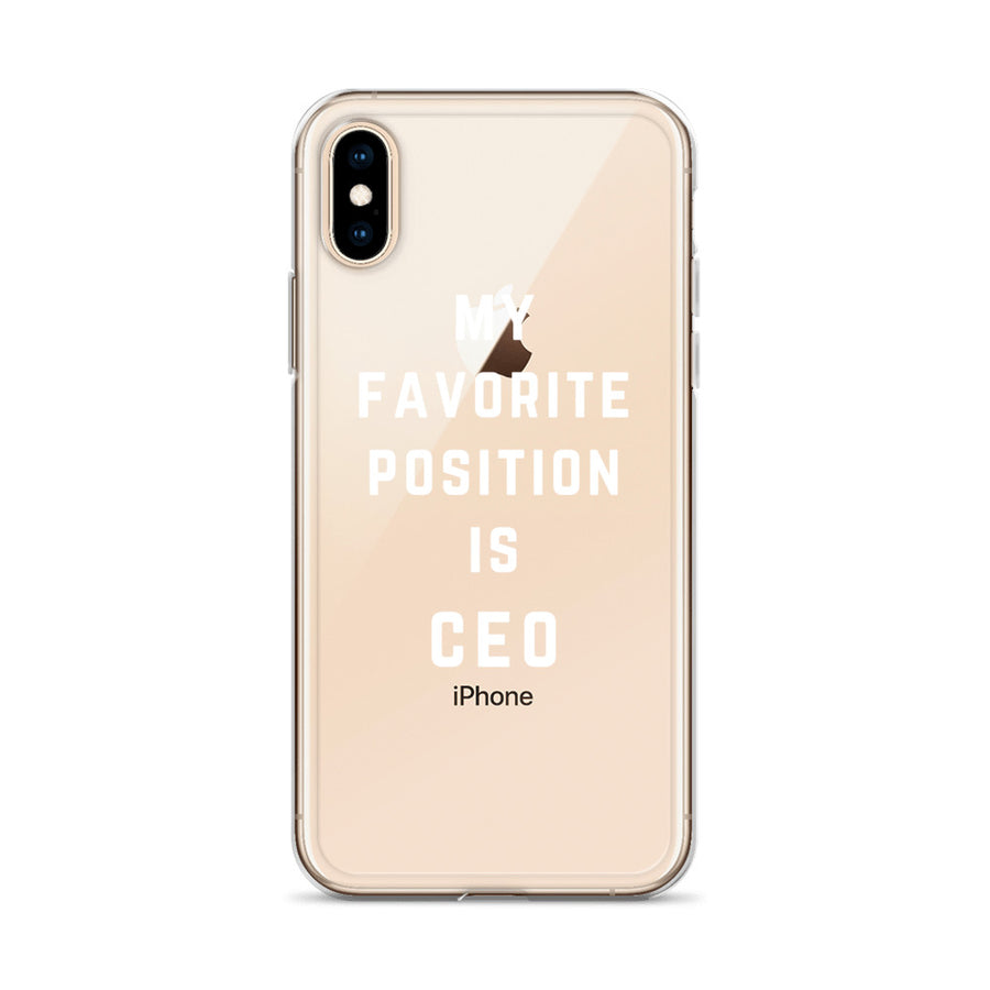 My Favorite Position is CEO iPhone Case