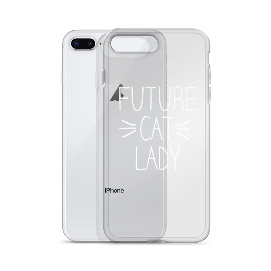 Future Cat Lady Transparent Clear iPhone Case