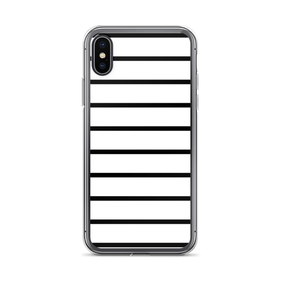 Simple minimal Black and White Stripes iPhone Case