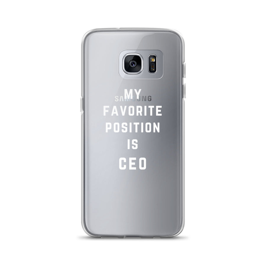 My Favorite Position is CEO clear Samsung Case