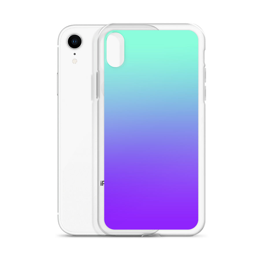Turquoise Purple Fade Pattern iPhone Case
