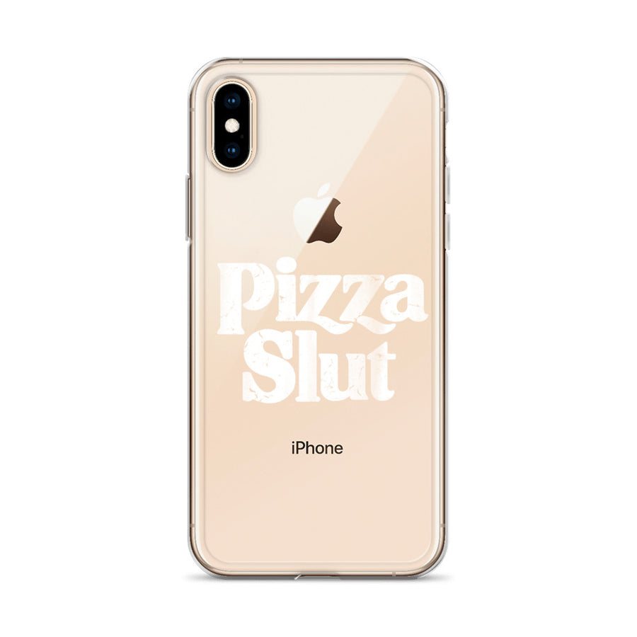Pizza Slut Clear iPhone Case