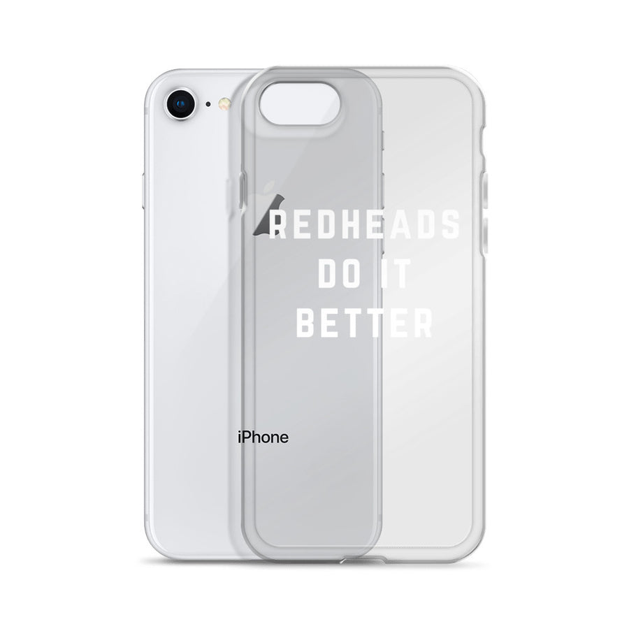 Redheads do it Better transparent iPhone Case