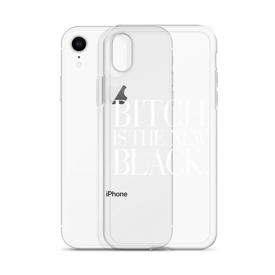 Bitch is the new Black Transparent iPhone Case