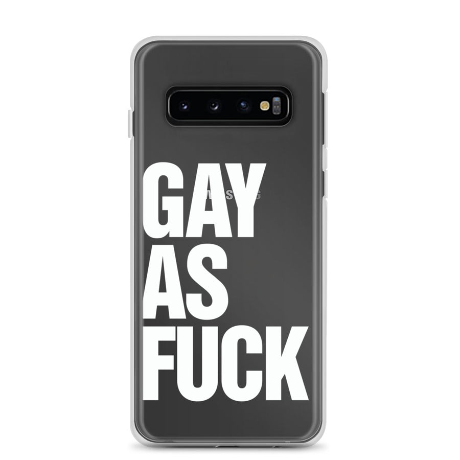 Gay As Fuck Transparent Samsung Case