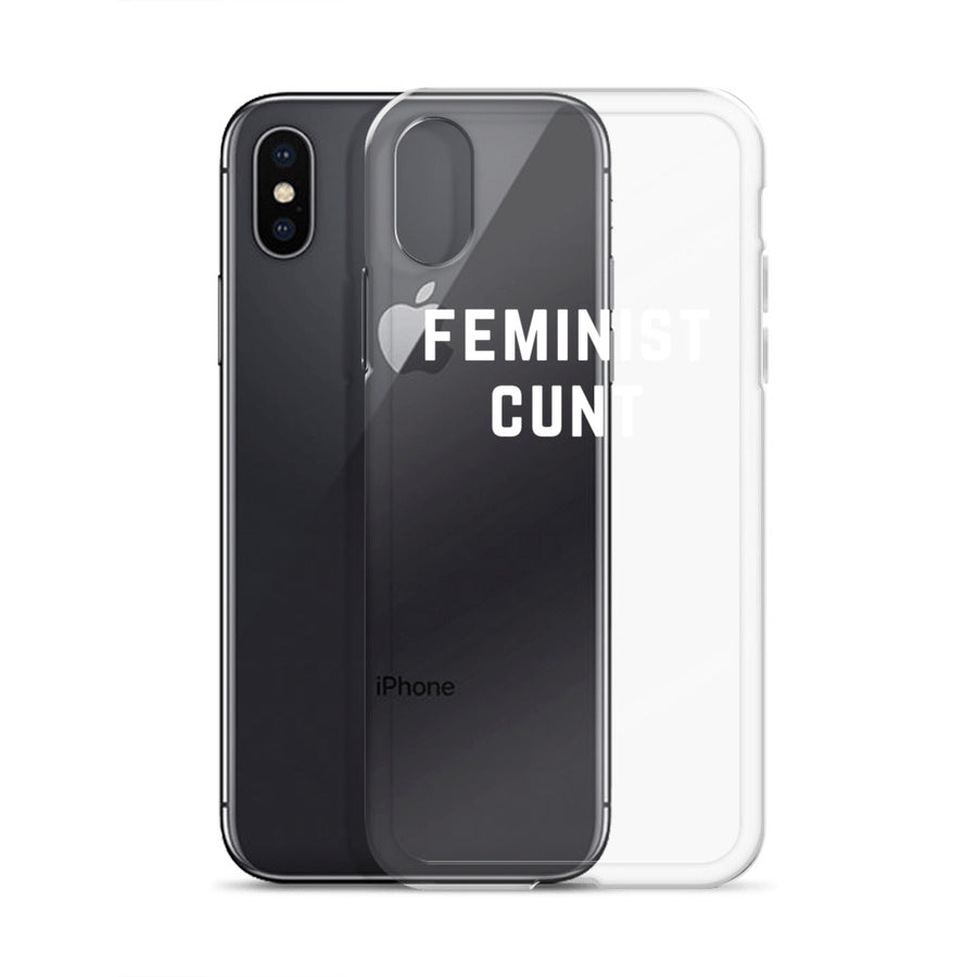 Feminist Cunt clear transparent iPhone Case