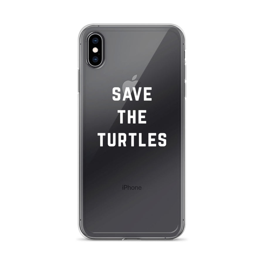 Save the Turtles Clear Transparent iPhone Case