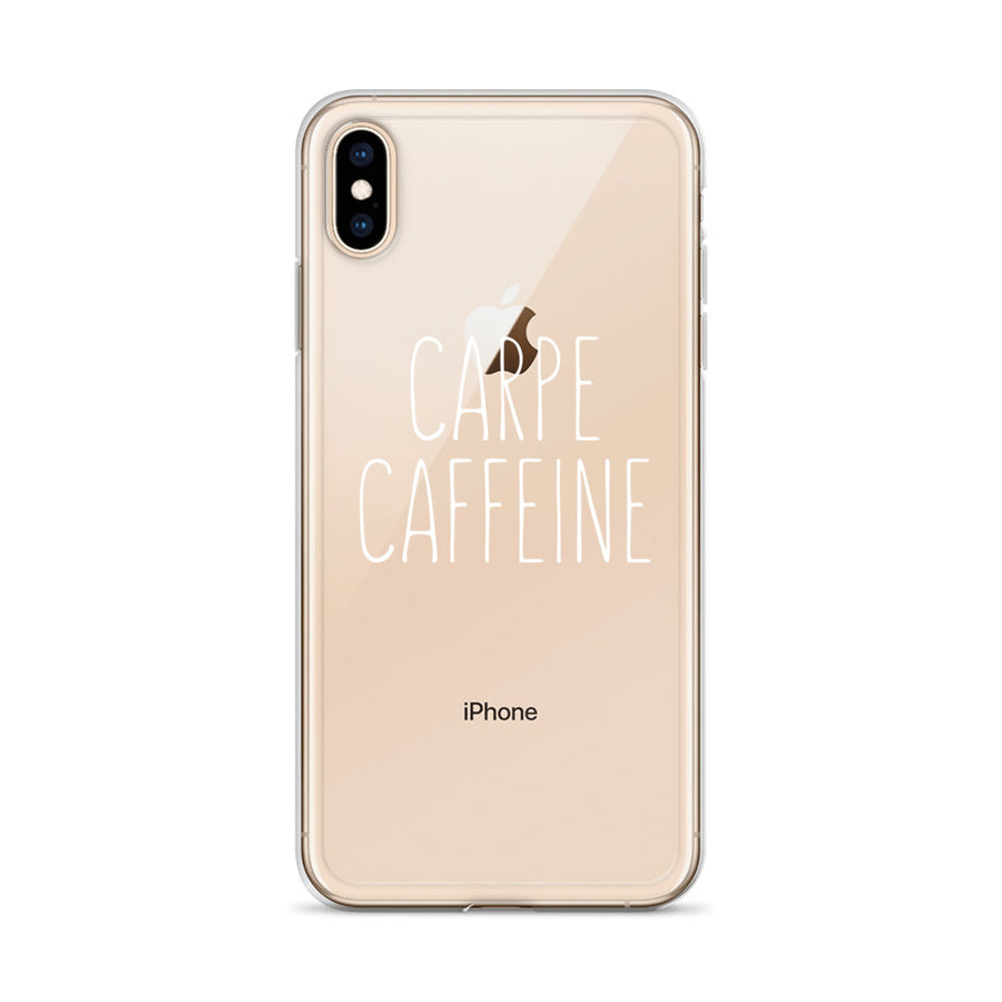 Carpe Caffeine Clear iPhone Case