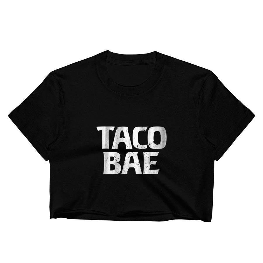 Women's Taco Bae Black Crop Top