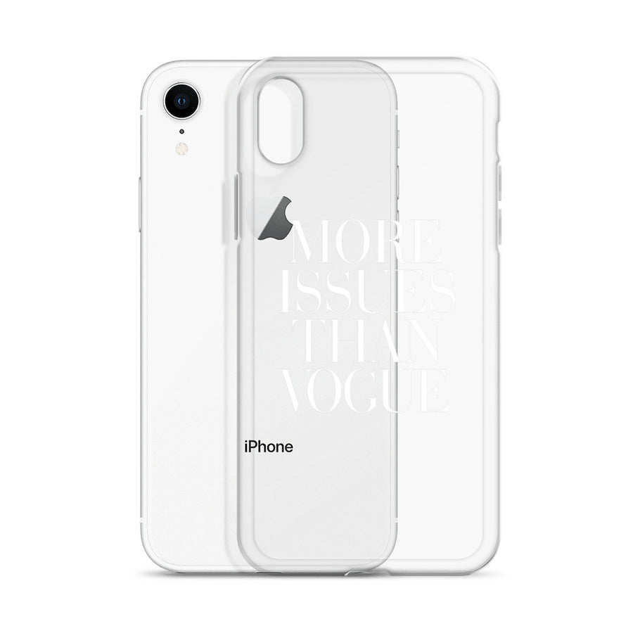More Issues Than Vogue Transparent iPhone Case