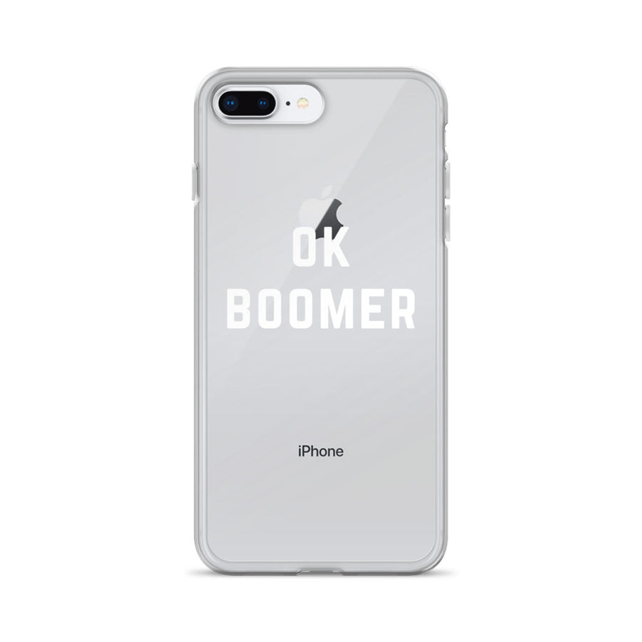 Ok Boomer Clear Transparent iPhone Case