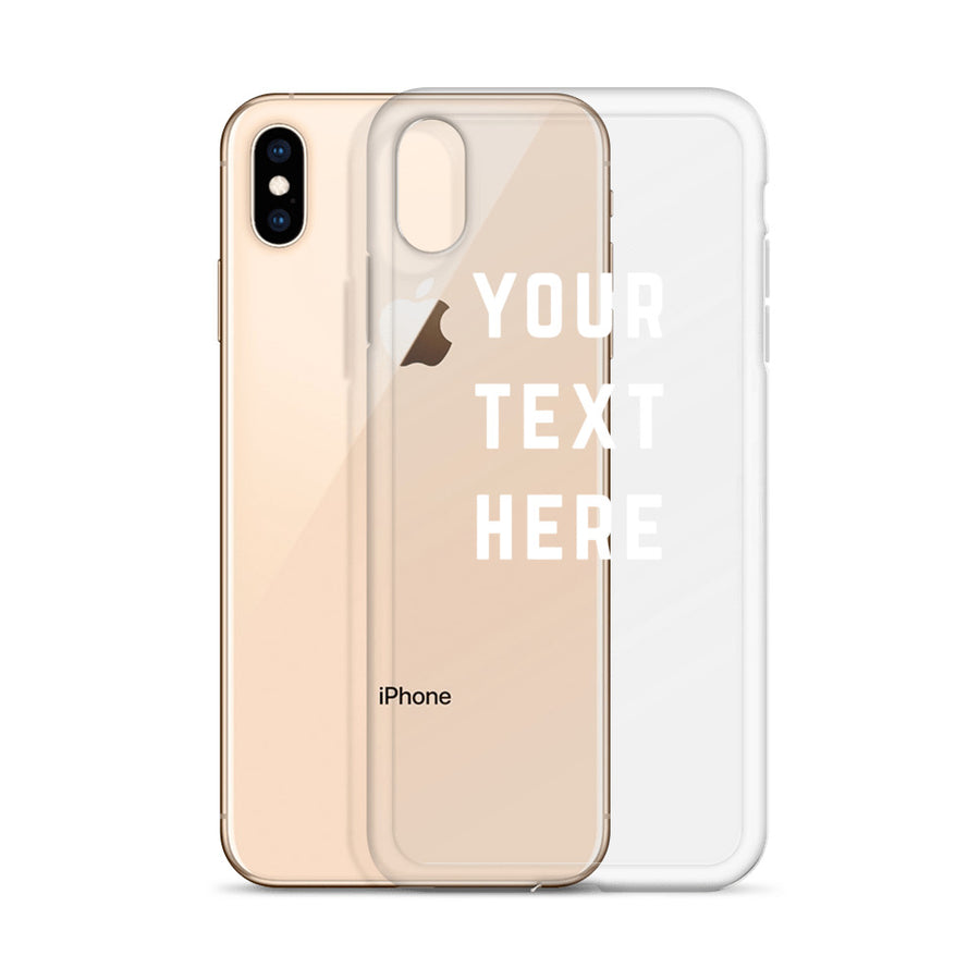 Custom Personalized Text Phrase or Quote Transparent iPhone Case