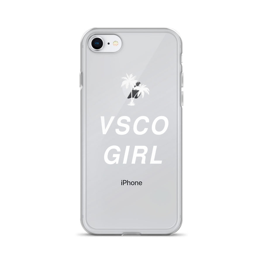VSCO Girl clear transparent iPhone Case