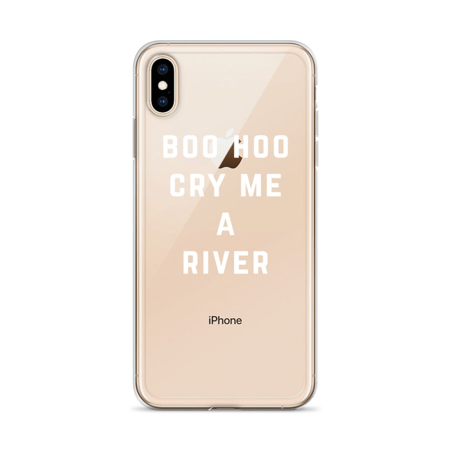 Boo Hoo Cry Me A River Transparent iPhone Case
