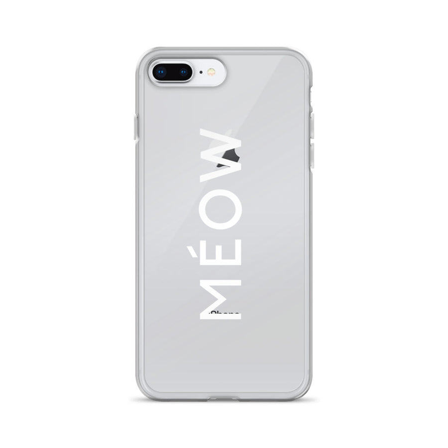 Meow Couture Transparent iPhone Case