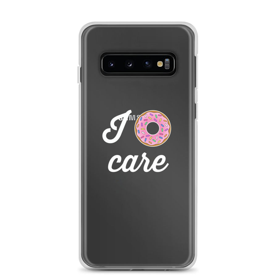 I Donut Care Clear Samsung Case