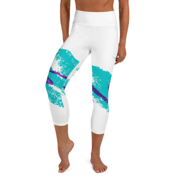 90's Retro Jazz Cup Yoga Capri Leggings