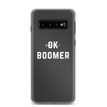 Ok Boomer Clear Transparent Samsung Case