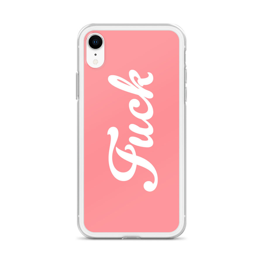 Fuck Pastel Coral Peach Flesh iPhone Case