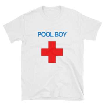 Pool Boy Red Cross Unisex T-Shirt