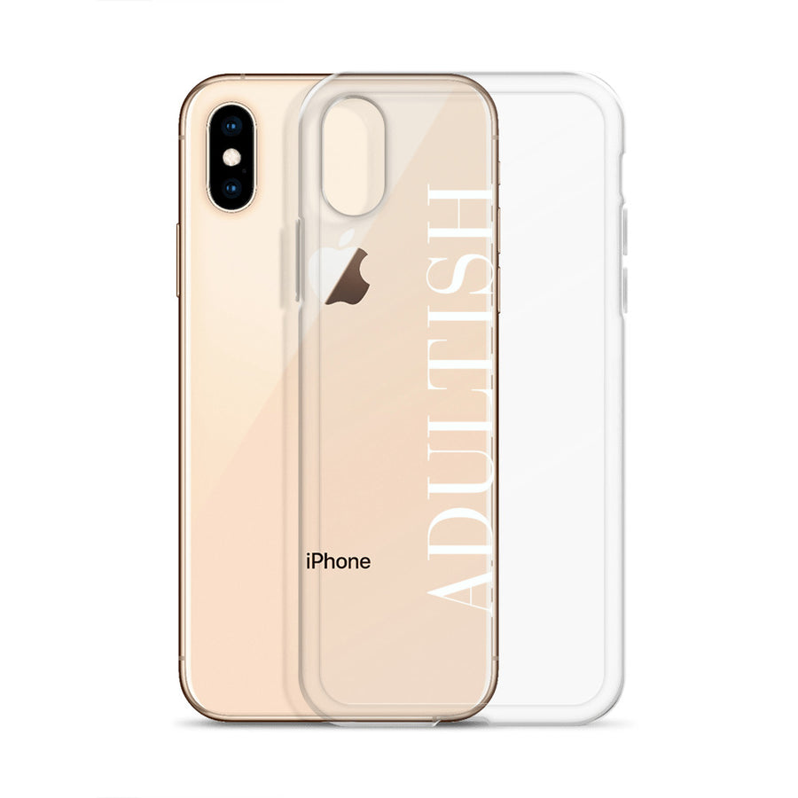 Adultish Couture clear iPhone Case