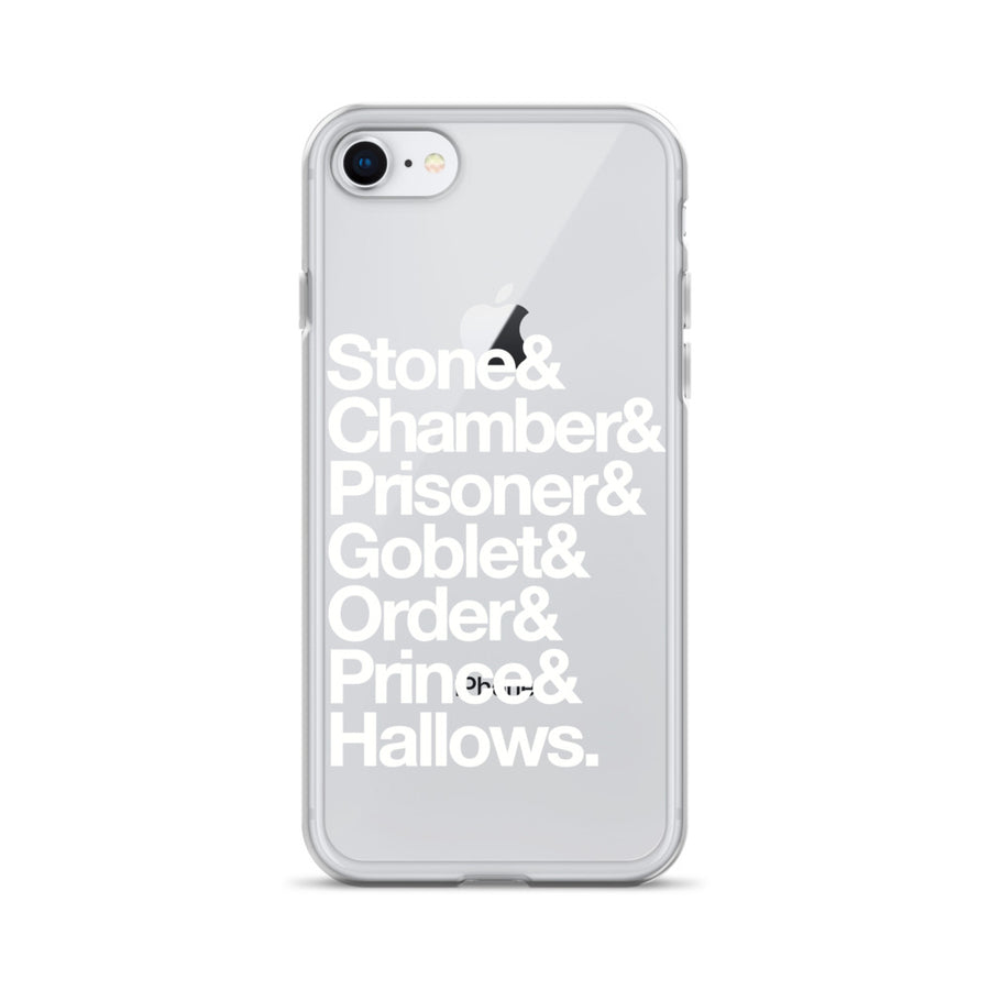 Stone Chamber Prisoner Hallows Goblet Helvetica iPhone Case