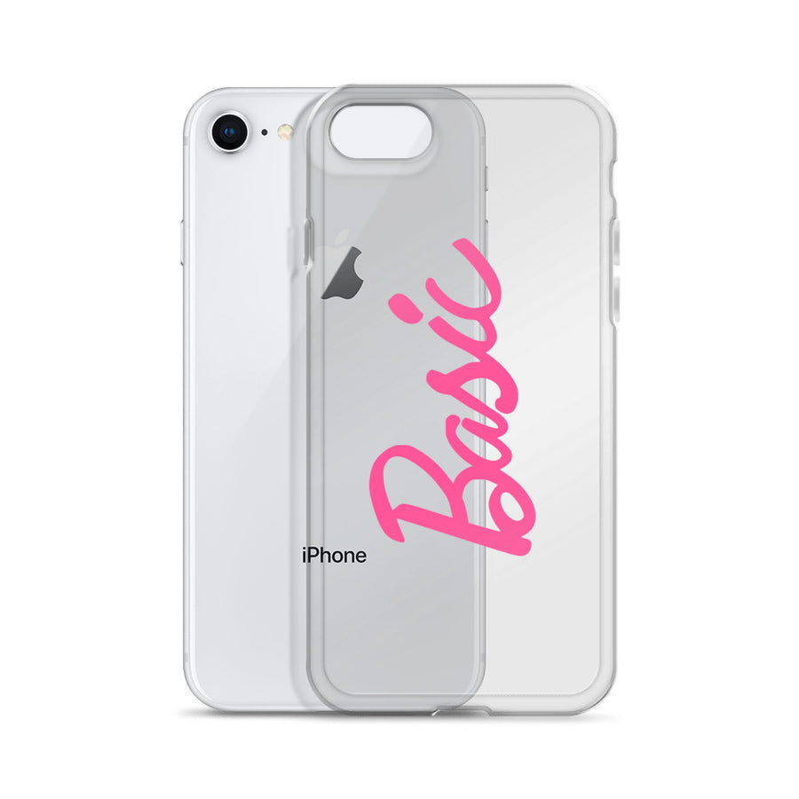 Basic Pink Girl Doll Transparent Clear iPhone Case