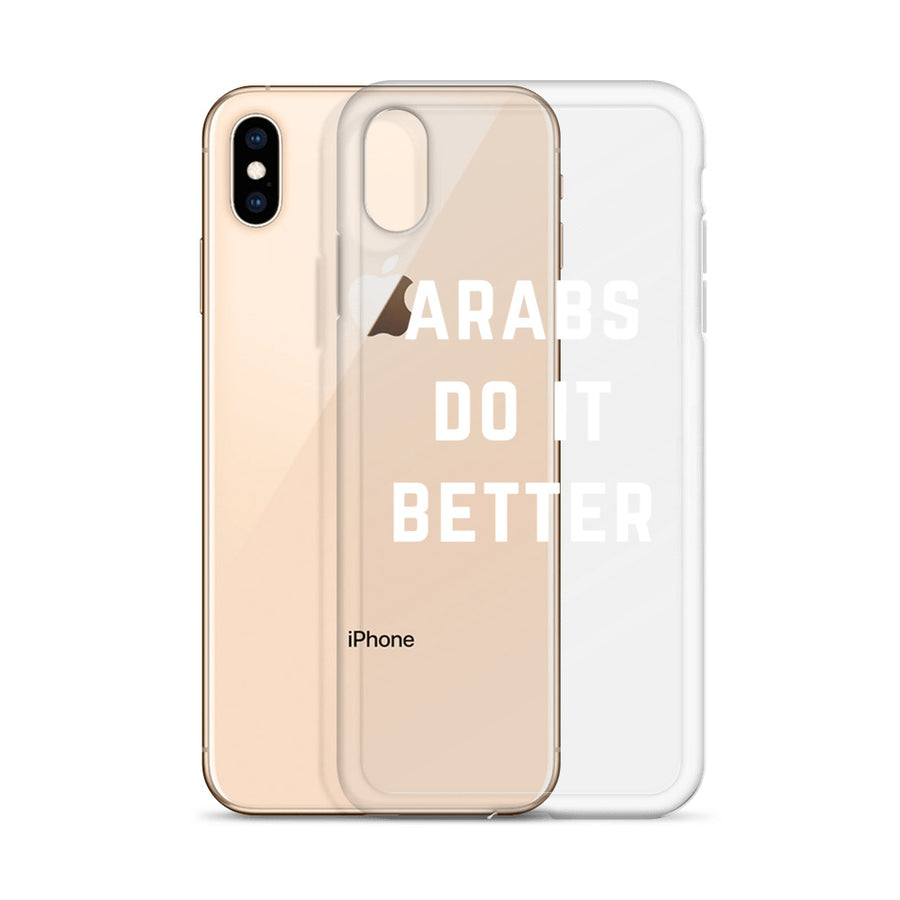 Arabs do it Better Clear Transparent iPhone Case