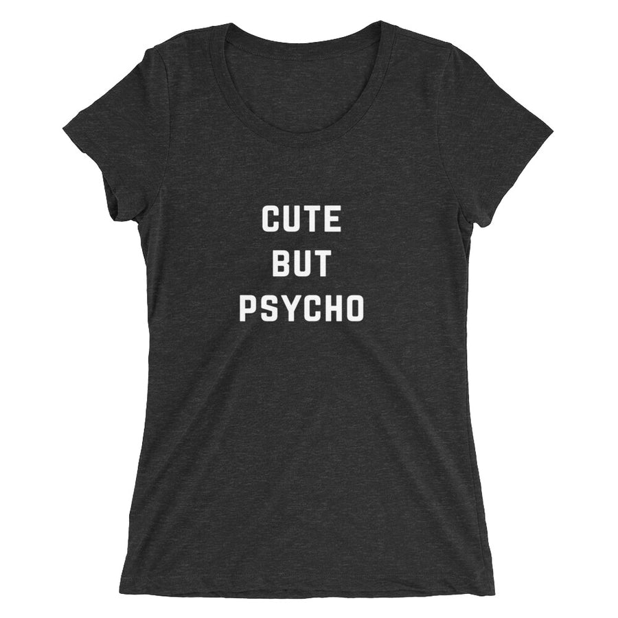 Cute But Psycho Women's Athletic Tri-Blend t-shirt