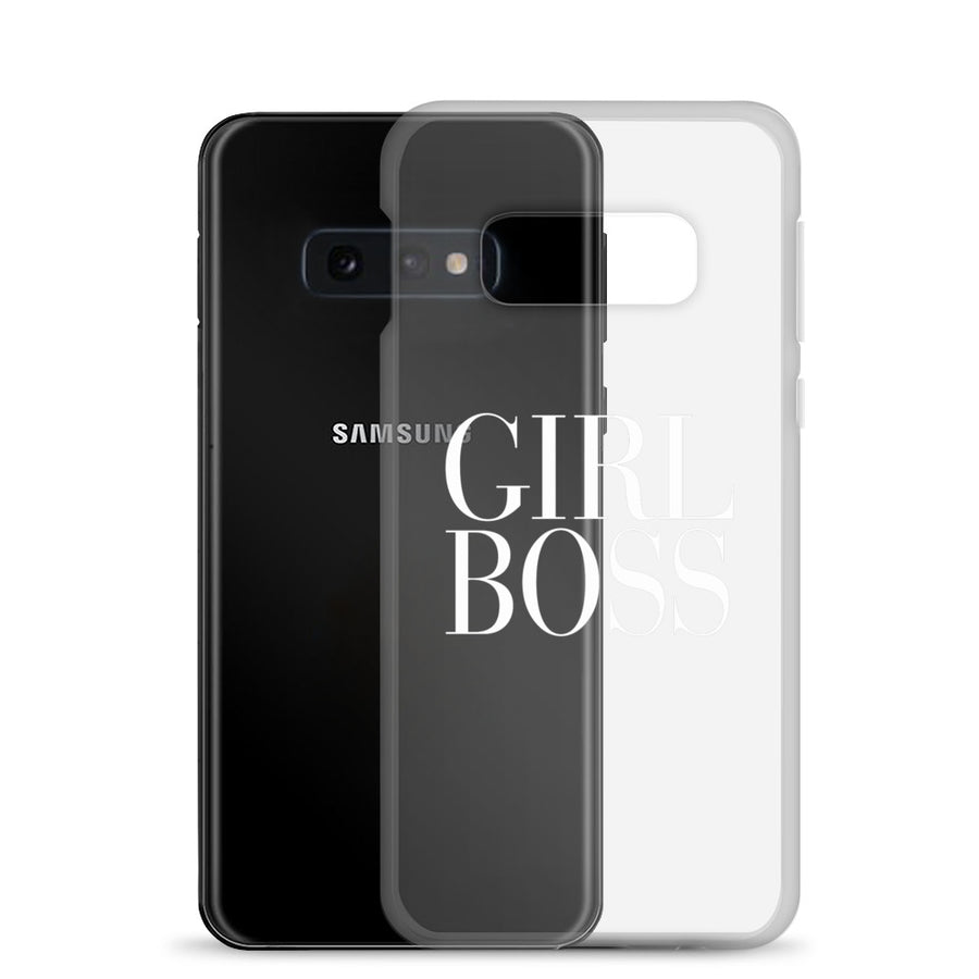 Girl Boss Couture Typography transparent Samsung Case