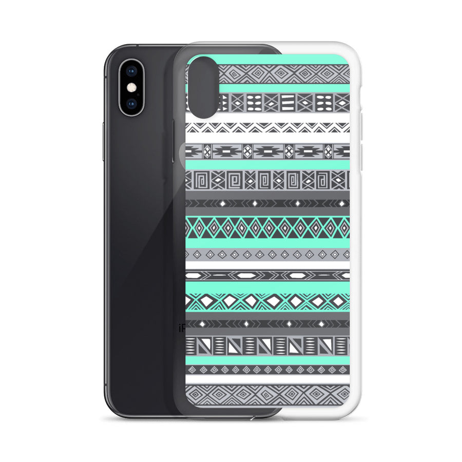 Aztec Turquoise Mint iPhone Case