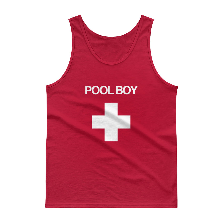 Pool Boy Red Cross Tank top