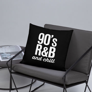 90's RnB & Chill Retro Typography Pillow