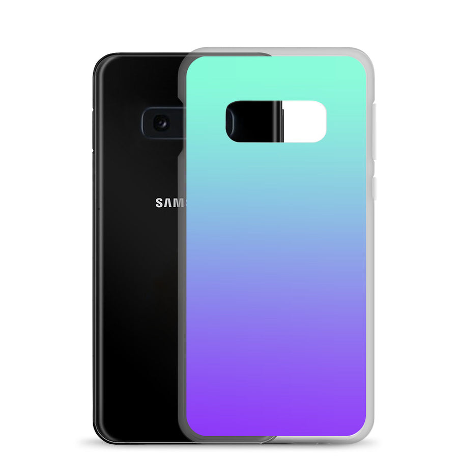 Turquoise Purple Fade Pattern Samsung Case