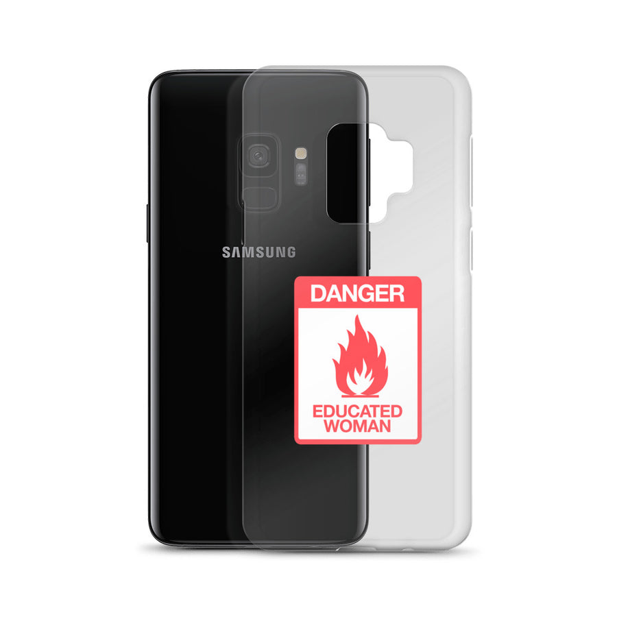 Danger Educated Women Sign clear transparent Samsung Case