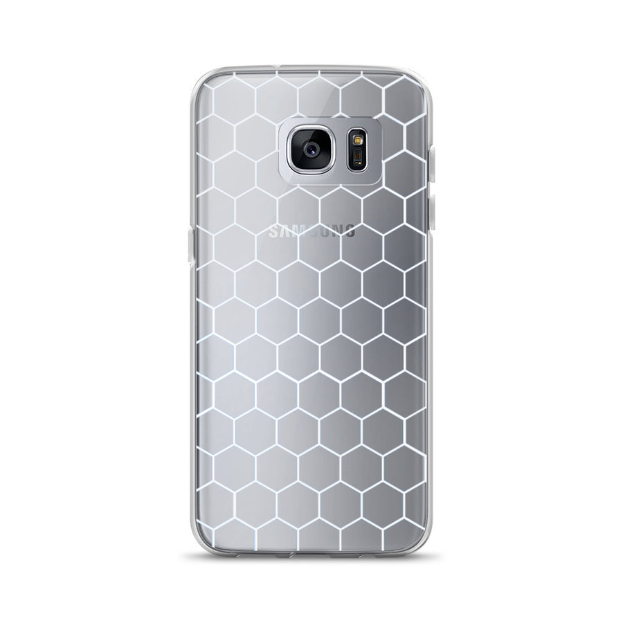 Honeycomb Pattern clear transparent Samsung Case