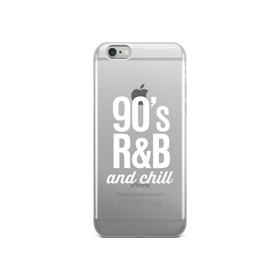 90s R&B and chill retro 90's print transparent iPhone Case