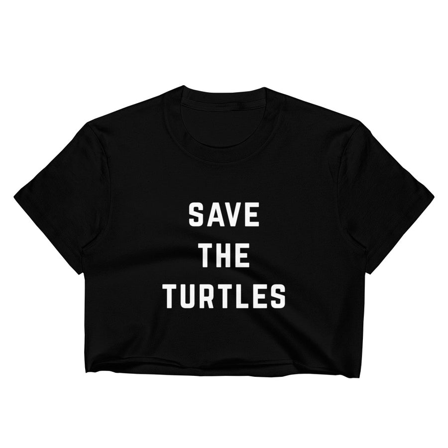 Save The Turtles Women's Crop Tee