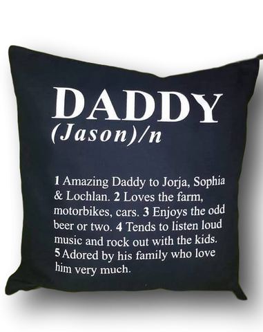Definition Cushion Cover (totally Personalised just for you)