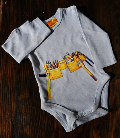 Tool Belt Onesie (business name add available)