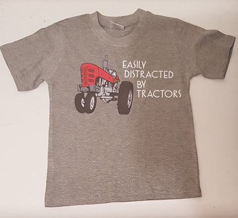 Easily distracted by tractors tee
