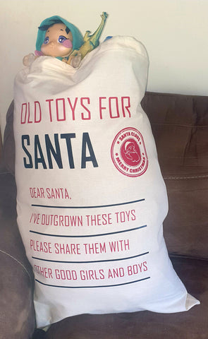 Old toys for Santa sack