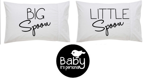 Big Spoon Little Spoon (100% cotton pillowcase pair)