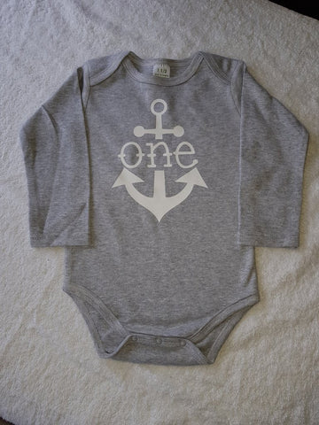 The Anchor Birthday Onesie or Tee (choose the age)