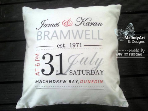 Formal Wedding Cushion (cover only)